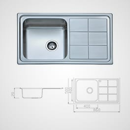 KITCHEN SINK BL 890 Milano