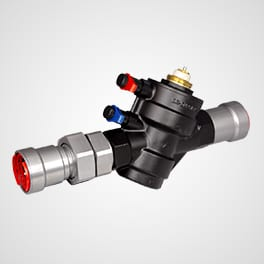 PPSU902 dynamic commissioning valve with union connection 2 x press Pegler