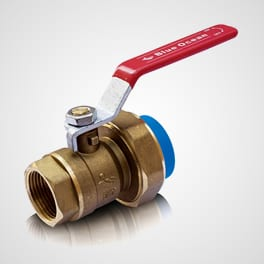 Brass alloy ball valve with union adaptor and PPR fusion end FT end Blue Ocean