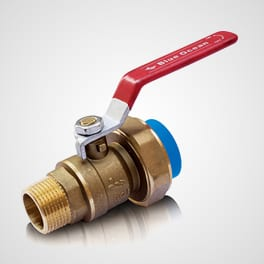 Brass alloy ball valve with union adaptor and PPR fusion end MT end Blue Ocean