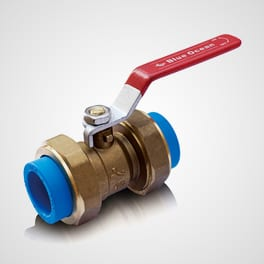 Brass alloy ball valve with union adaptor and two PPR fusion ends Blue Ocean