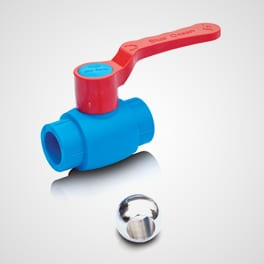 PPR ball valve brass alloy ball for hot water use long handle Blue Ocean