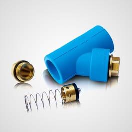 PPR inclined back flow valve Blue Ocean